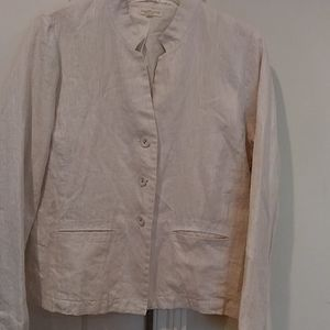 Eileen Fisher lightweight linen blazer